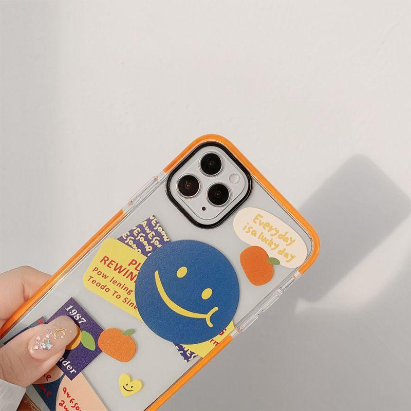 كوريا الشخصية مبتسم لIphone11 برو ماكس إكسس ماكس XR SE2020 حالة الهاتف المحمول 7 8plus مبتسم لينة شل الموضة