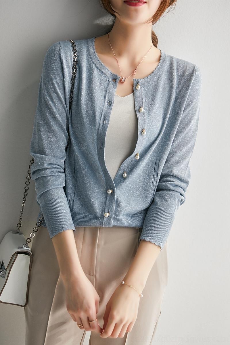 8WRsl Ice Silk malha cardigan verão solta protetor solar Ar condicionado fadas fina camisa Super camisa climatizados 2020 das mulheres novas uma 8CGGL