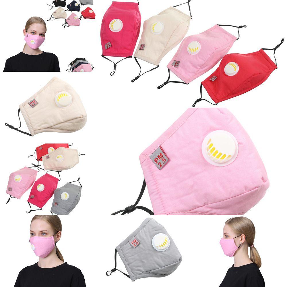 Pamuk Yıkanabilir PM2.5 Yüz Toz Öğrenci Yetişkin Kadın Erkek Re kown için Vana Ağız maskeler ile Maske
