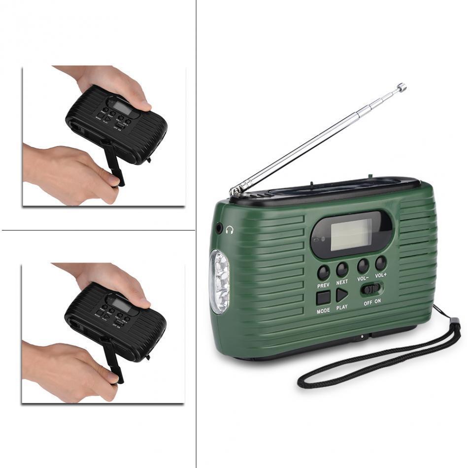 Cgjxsrd -323 Am / Fm Radio portatile della manovella di energia solare della Banca di potere del rifornimento di emergenza Supporto MP3 Music Player torcia elettrica esterna