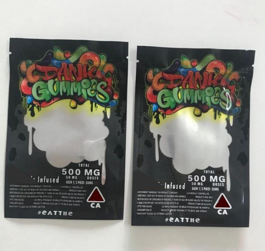 Tabak Zip Mylar-Plätzchen Essbare Gummies 6 Neue Chuckles Verpackung für trockene Kräuter Dank Lock-Typen Tasche Edibles xhh 500mg Gummy Verpackung kNPiCH