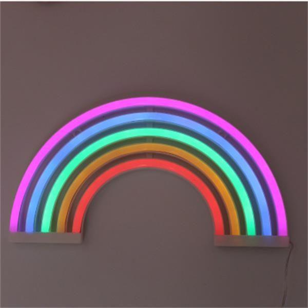 Der heiße Verkauf LED-Modellierung Lichter Wand hängen Regenbogen Neonlichter ins Schlafzimmerdekoration Nacht kreative Nachtlichter Lampen