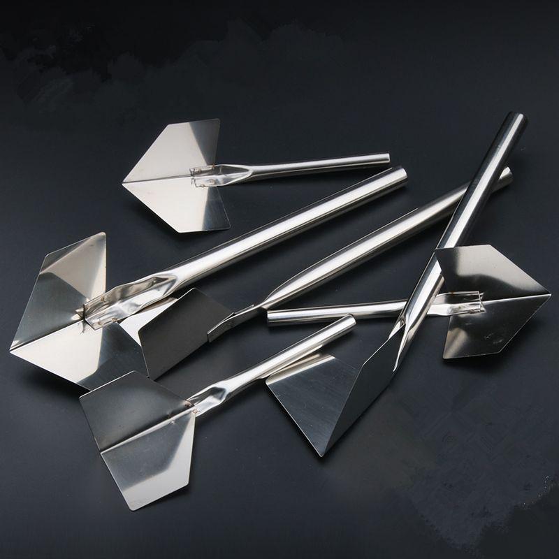 1-4PCS Couteau à mastic en acier inoxydable Couteau sec d'angle SCRAPTER SCRAPIER MUR SHOVEL DÉCHETURE DE COUVERTURE DE CONSTRUCTION