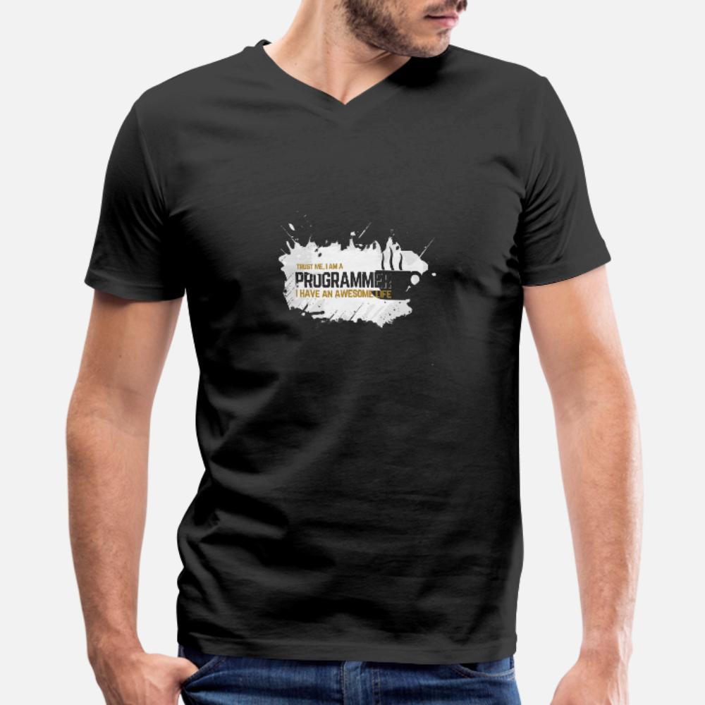 Confie que eu sou um programador camisetas homens designer de algodão S-XXXL Família camisa New Style Primavera Natural Interessante
