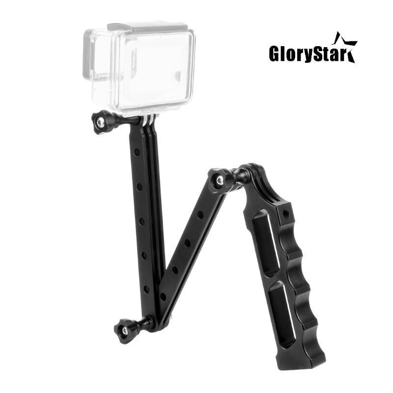 Camera Cnc Auto Stick selfie Casco estensione pieghevole Arm Mount Accessori Per Dji Osmo Azione Yi Eken Azione