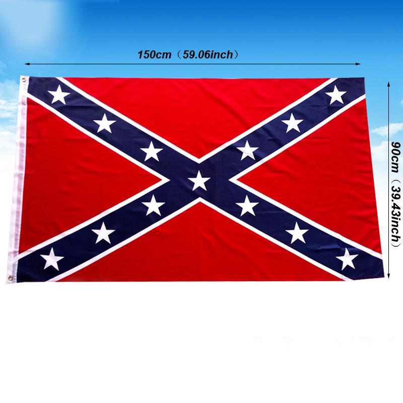 Rebel Guerra Civil FT 3x5 dos caras de la bandera de la bandera confederada Penetración Rebel Banderas Banderas Nacionales de poliéster personalizable VT1427