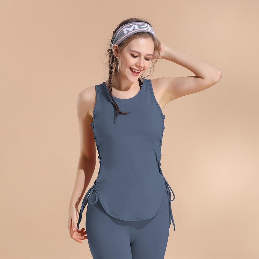 çabuk kuruyan nefes gevşek bluz yelek üst tarafı askısı üst kolsuz yelek yoga giyim spor çalışan Coat