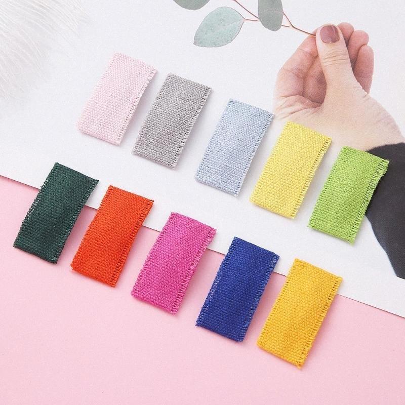 Mädchen Schnellhaar-Clips für Kinder Baby-Haar-Zusätze Frauen Haarnadel Haarspangen Clip Pins Solid Color Tuch Haarklammer s5Af #