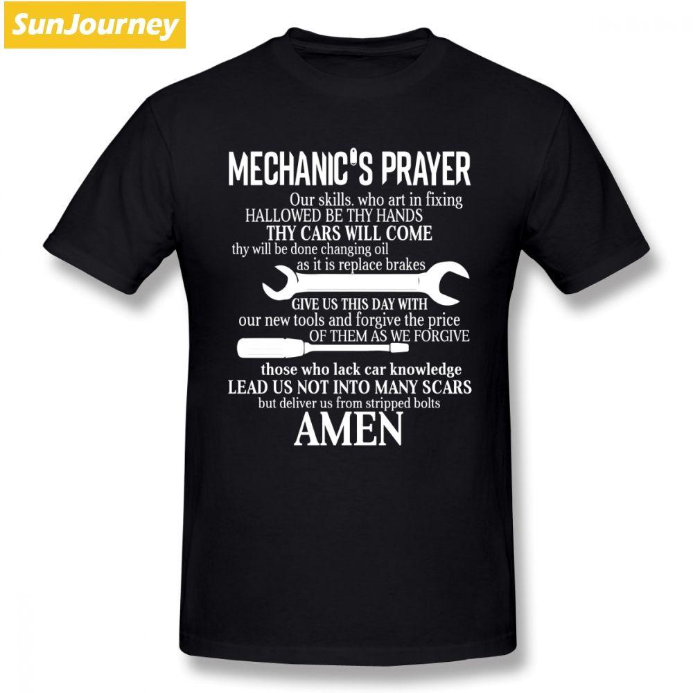Casais shirt da forma de oração Homens T do mecânico 4XL 5XL 5XL algodão de manga curta personalizado Brand-roupas