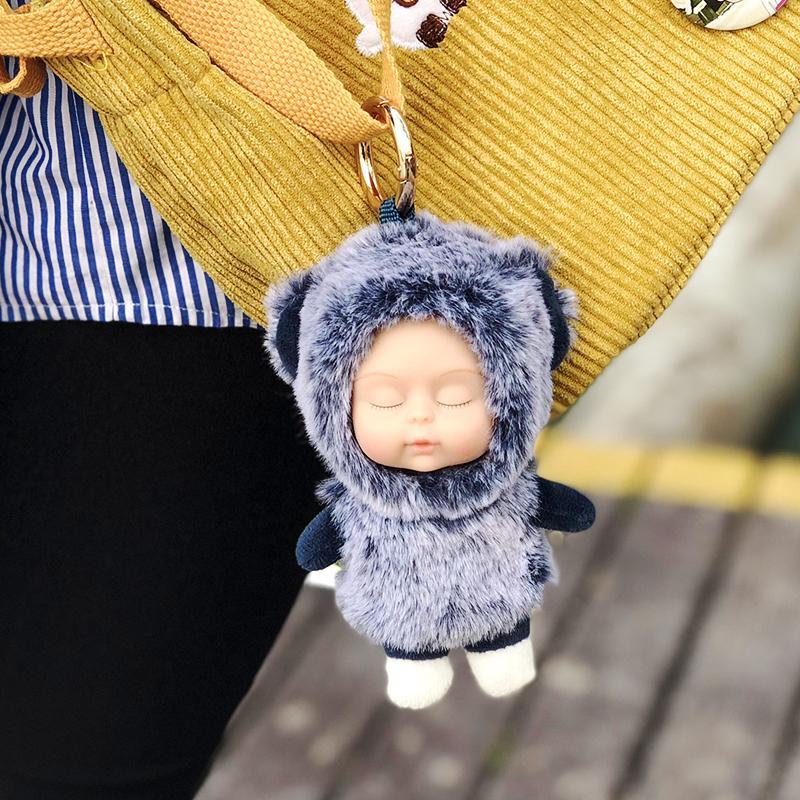 48pcs of New Baby Cute Doll Toy Car Keychain Women Girl Bag Pendant Charms Keyring llavero Decor Gift