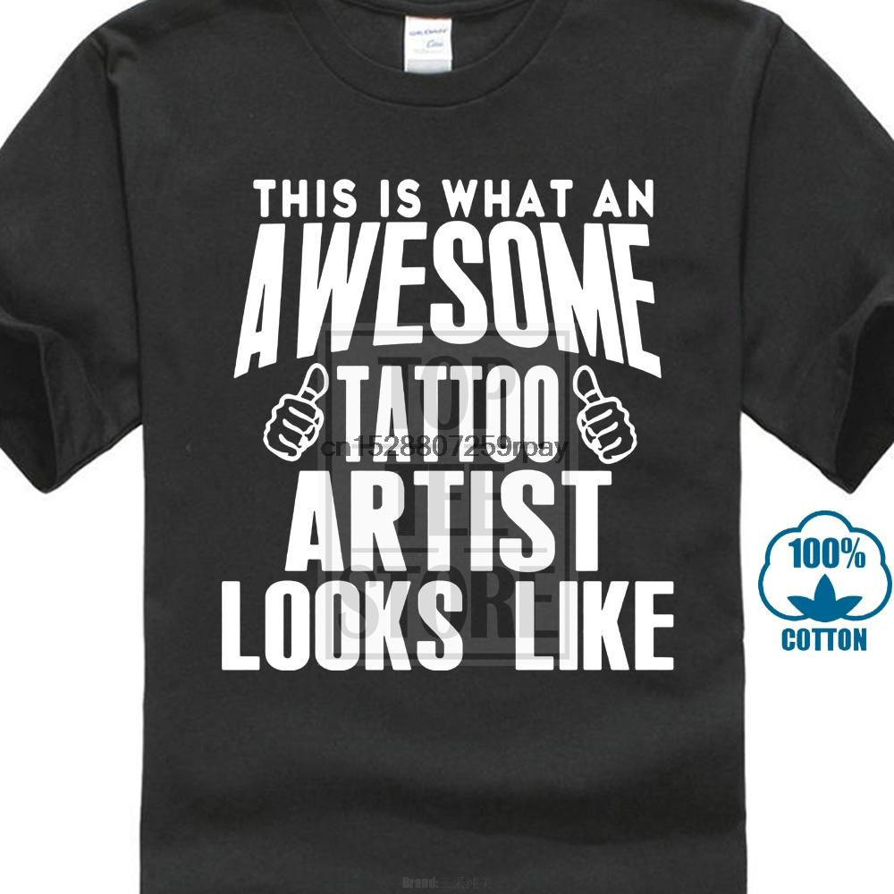 Nouveau style récent drôle Marque-vêtements de mode T-shirt Tattoo Artist Homme T-shirt en coton doux Imprimer