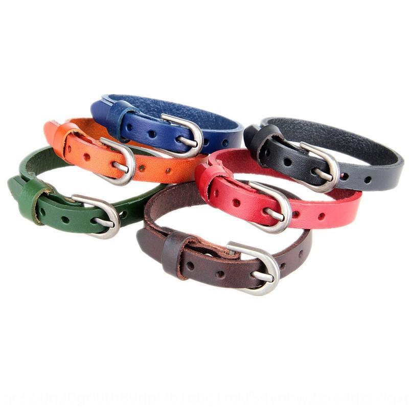 Qxhj6 Punk personalizzata in vera pelle di un cerchio di braccialetto Cintura beltcowhide bracciale può essere premuto