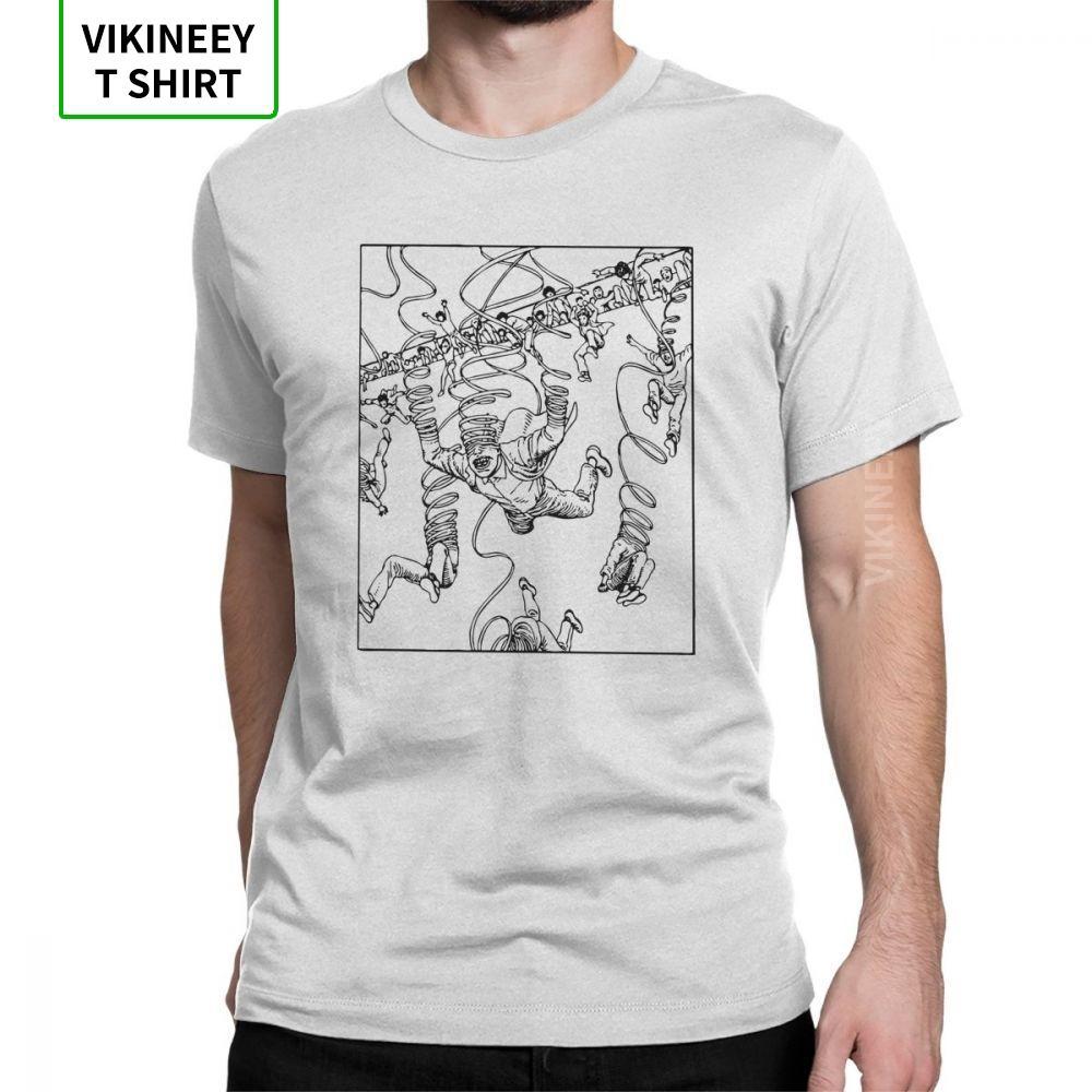 Hombres Junji Ito Unravelled T-Shirts Terror Manga Japón novedad de cuello redondo manga corta Tops 100% algodón Camiseta Tamaño camiseta grande