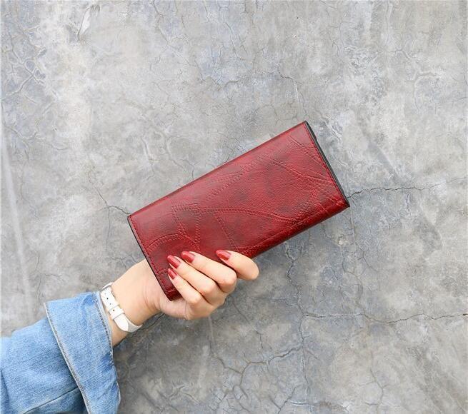 2020.Spring y moda moda otoño Hold para mujer estudiante de la cartera a largo multi-función de embrague hebilla billetera titular de la tarjeta de múltiples bellamente