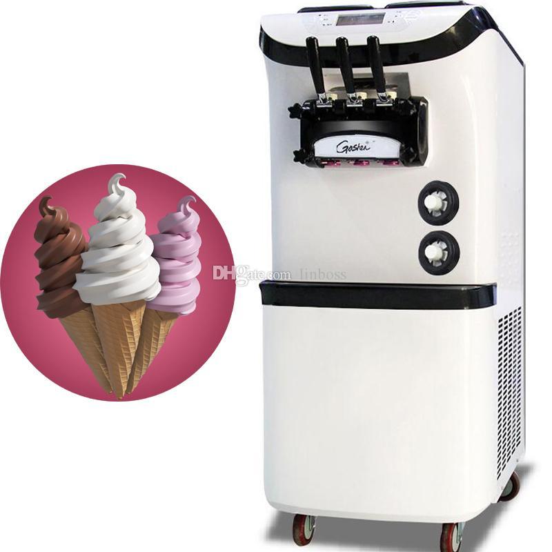 Precio barato Comercial 3 Sabor Yogur helado vertical de la máquina para la venta de ahorro de energía de helado de máquina 110V 220V
