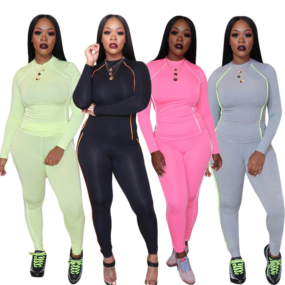 2 Piece Female Tracksuit Women Autumn Winter Suit Leggings And Long Sleeve Top Two Piece Matching Sets Outfit Jogging Sportswear T200810
