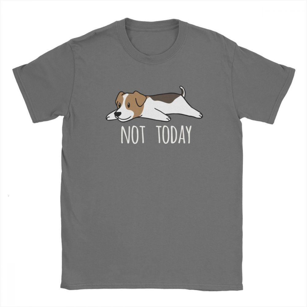 Magliette Hipster cotone manica corta Tee Shirt Midnite Star divertente Not Today Jack Russell Terrier Dog Man del girocollo T-shirt