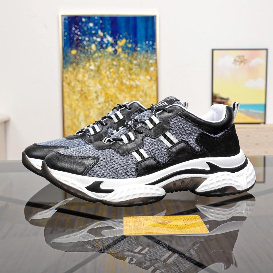 Yeni yüksek kaliteli erkekler rahat ayakkabılar deri bağcıklı düşük-top spor ayakkabılar erkek moda ayakkabılar erkek kemer kutusu ücretsiz kargo qwy