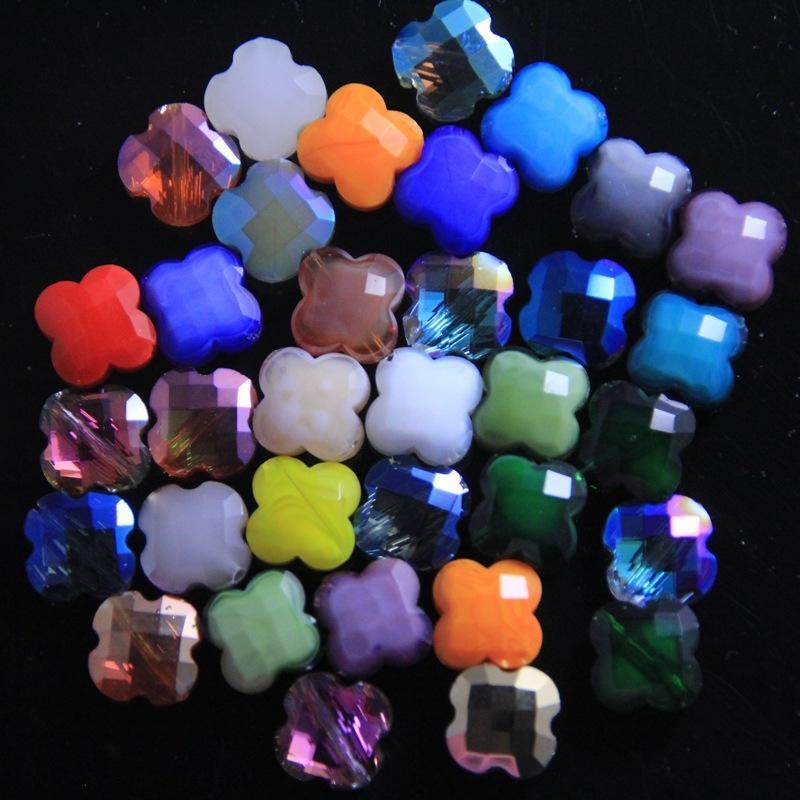 Diy beadsBeaded beadedbeads ile pYFXz Dört Yapraklı Yonca kaliteli kristal gevşek boncuk el yapımı malzeme diy aksesuarları boncuklu yapay elmas