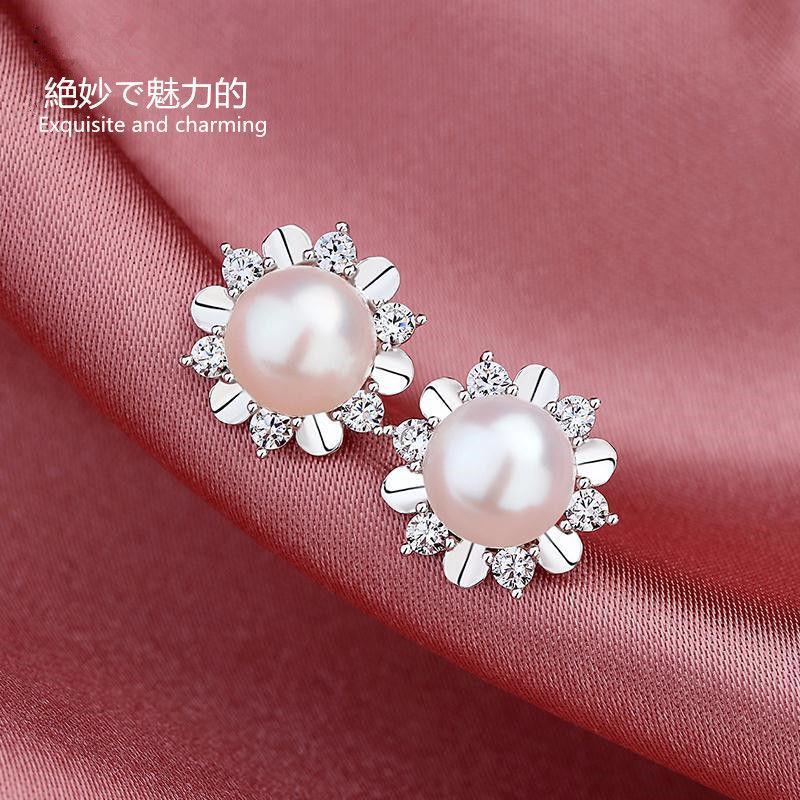 orecchini di marca orecchini Charms Pearl Adatto per la raccolta sociale il partito dei monili dell'orecchio Charm 925 Orecchini matrimonio Trendy