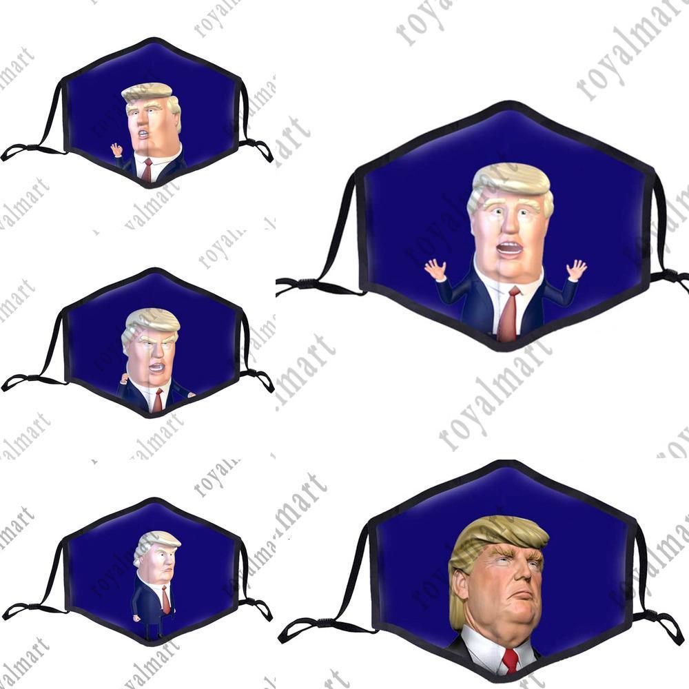 2020 Trump fumetto della stampa del fronte a noi Elezione Forniture Ciclismo antipolvere Brethable riutilizzabile bambini Mask Bwd960