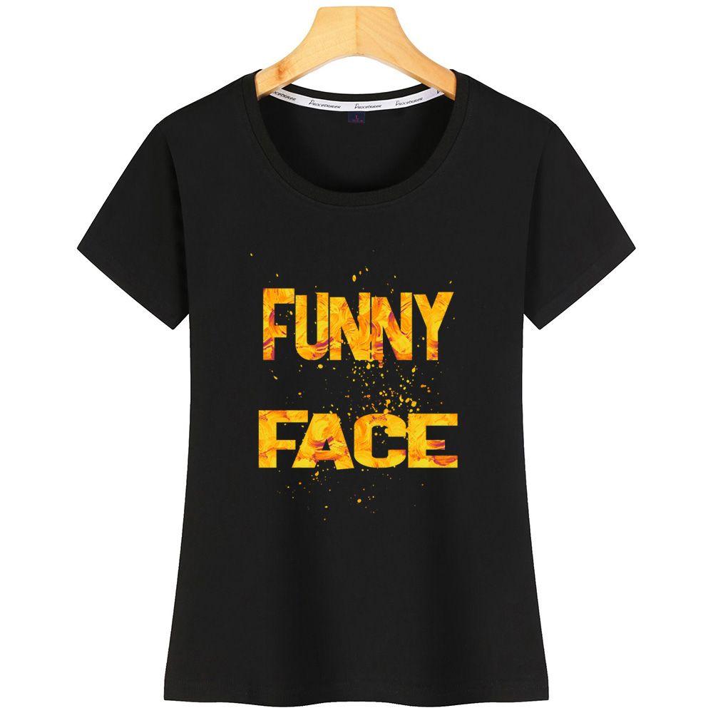 Una cara con 2 Camiseta de las mujeres de Nueva StyleDesign famoso camiseta para mujeres