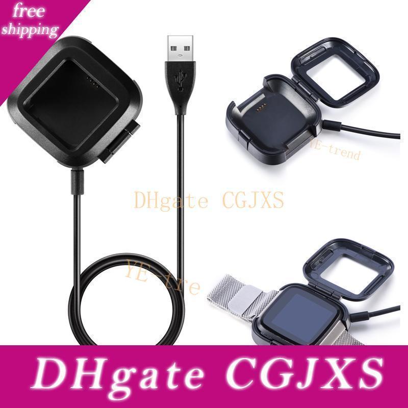 Energía USB cable cargador de batería Base de carga para Fitbit Versa reloj elegante conveniente para los usuarios viajeros y de negocios