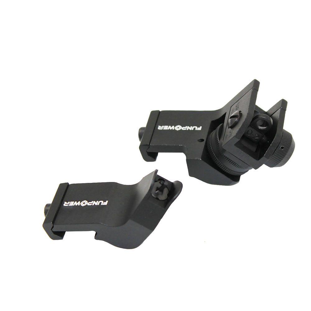 Funpowerland التكتيكية 45 درجة إزاحة الأمامي والخلفي النسخ الاحتياطي lron البصر مجموعة السريع الانتقال السكك الحديدية 20MM بندقية البصر