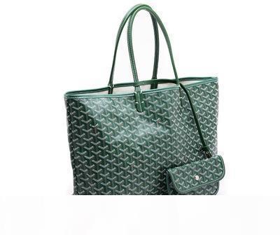 Goyarrd الساخن الأكثر مبيعا عالية الجودة الموضة في باريس الساخن بيع جلد طبيعي غوي سانت لو مساء الخضراء المغلفة المتوسطة قماش حمل حقائب اليد