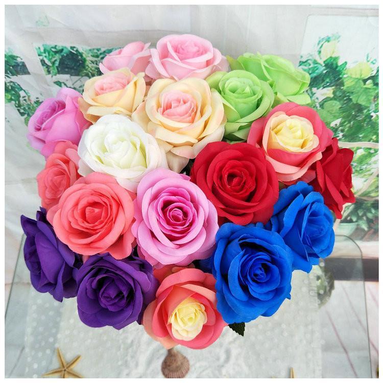Tek emülasyon Düğün dekorasyon simülasyon çiçek El hissedin nemlendirici Sevgililer Günü hediyesi T9I00380 gül gül