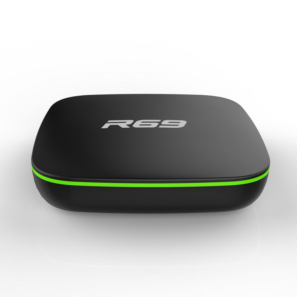 R69 Android 7.1 Smart TV Box filme Allwinner H3 Quad-Core 2.4G Wifi Set Top Box HD 1080p 1GB 8GB 2g 16g