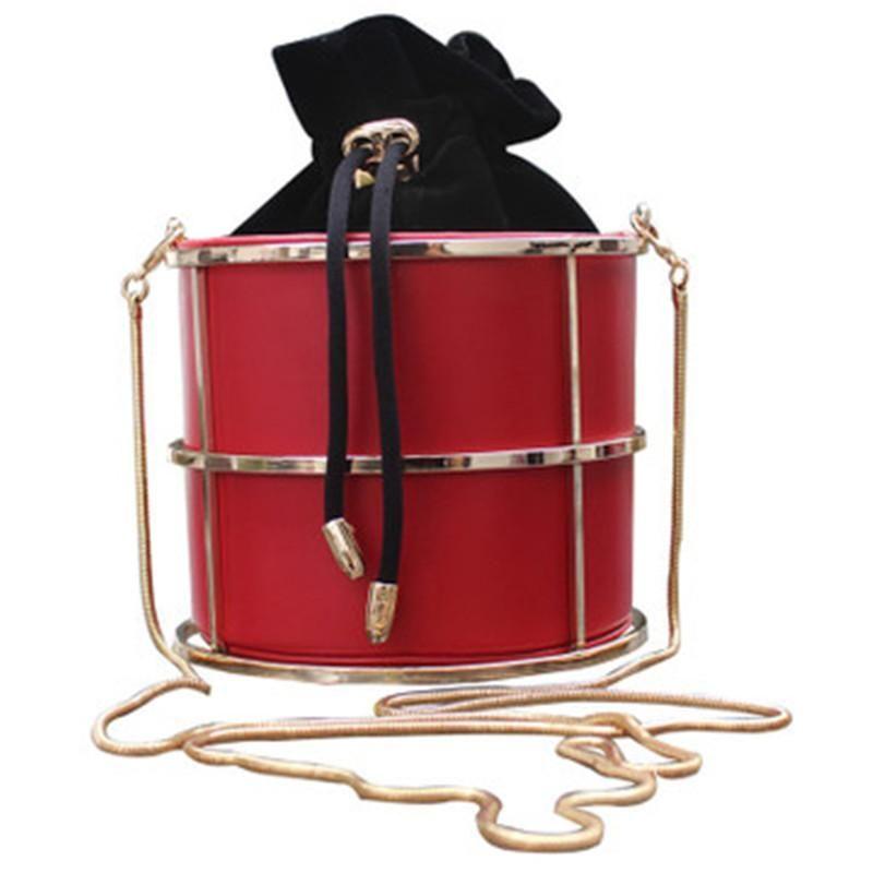 Neuer Ankunfts-Frauen-Handtaschen-Metallketten Eimer beiläufiger Crossbody Beutel Abendtasche