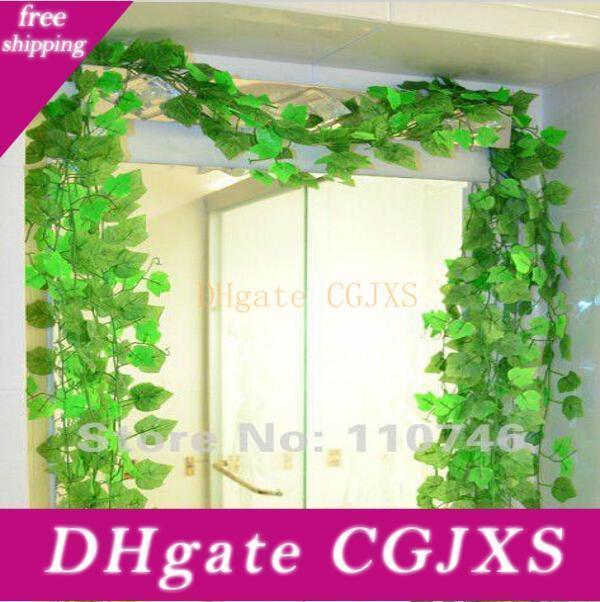 Belas folhas verde Vinha 24 partes / lote, Plantas Ivy Plástico Simulação flor artificial para casamento Home Decor