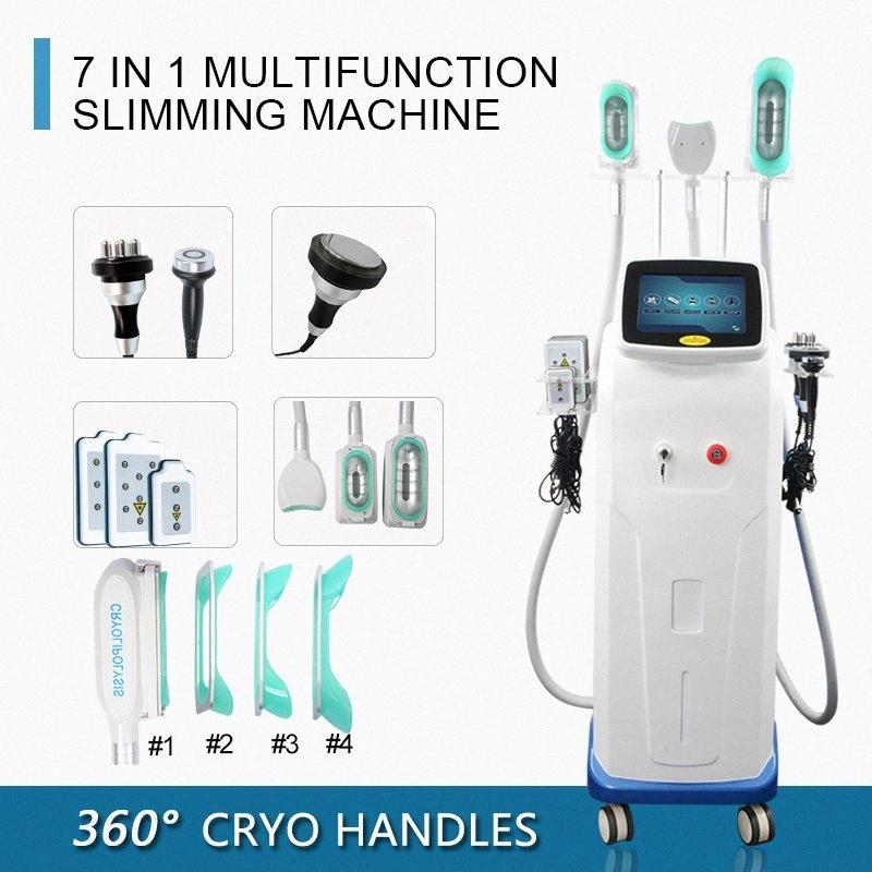 Fonksiyonlu Cryo yağlı dondurma Zayıflama Makinası Mini Cryo Vakum Çift Çene Kaldırma RF Lazer Lipo Cryolipolysis İnce Makine 8Ruw #