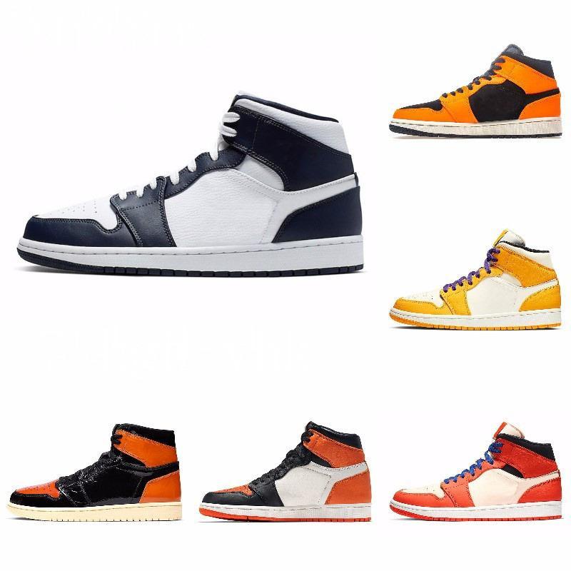 New High Top 3 Bred Brisé OG Toe Banned Chaussures Royal Game Hommes 1s Ombre Chaussures de sport de haute qualité avec la boîte J # 08-212