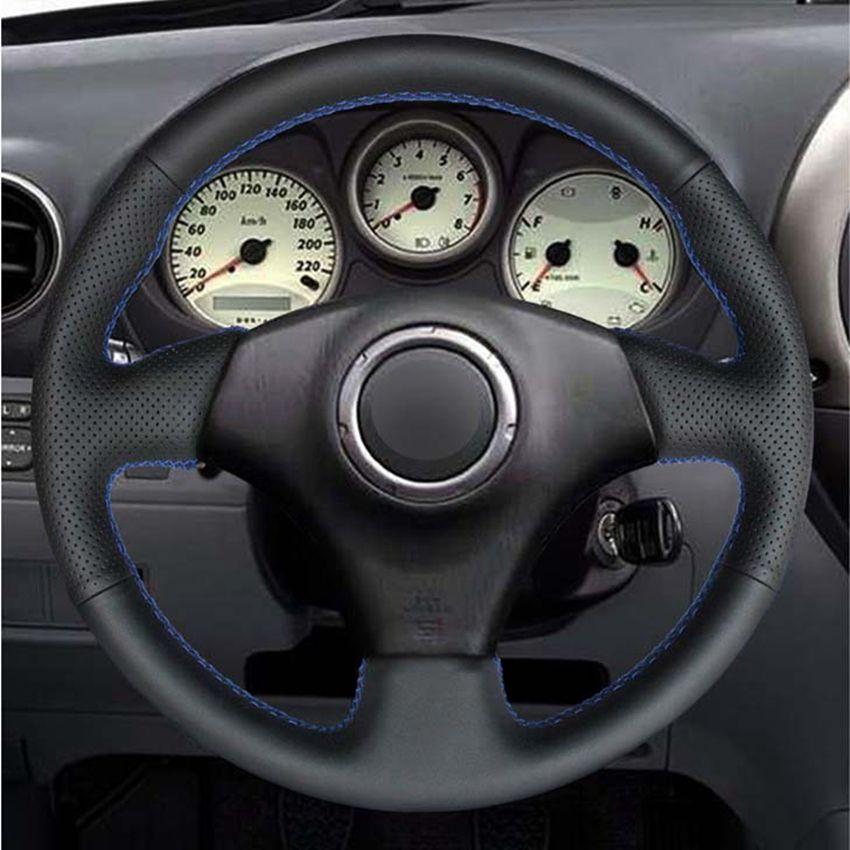 DIY черный PU Искусственная кожа Рулевое управление автомобиля Крышка колеса для Toyota RAV4 1998-2003 Celica 1998-2005 Corolla (США) 2003