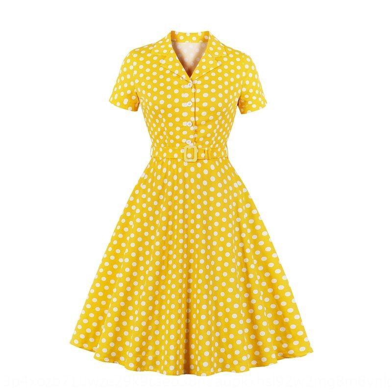 LEh2l 2020 польки с короткими рукавами юбка 2020 новых полька Женская точка с коротким рукавом платья женщин платье Новая юбка
