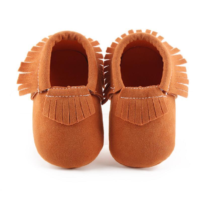 2020 PU Suede couro recém-nascido Mocassins sapatos macios Soled antiderrapante Berço Primeiro Walker Dropshipping