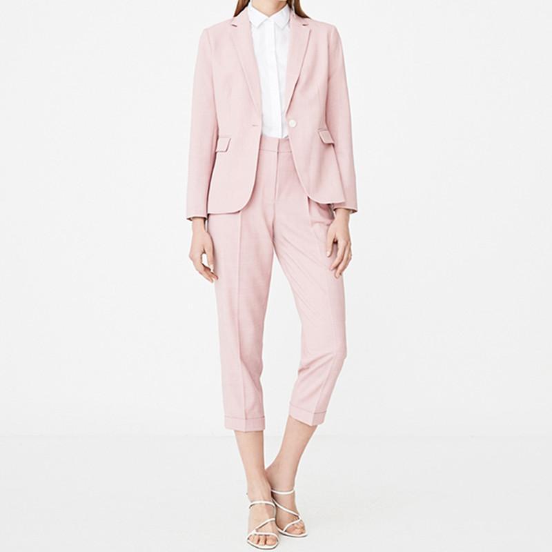 terno senhoras moda casual terno terno de duas peças das mulheres (jaqueta + calça) formal do escritório personalizado desgaste profissional das mulheres