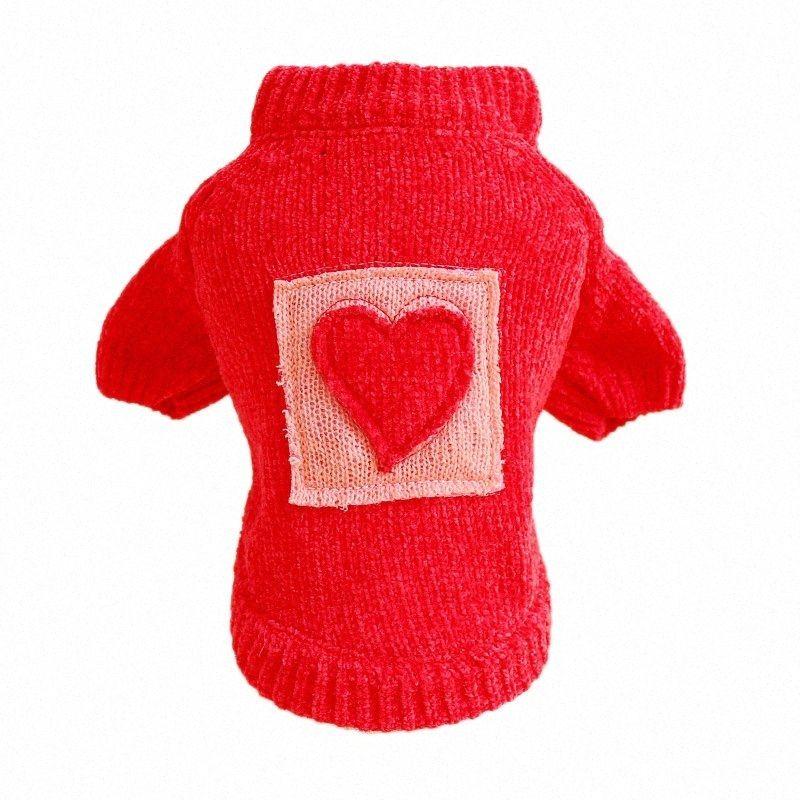 Evcil AxDa için # Pet Köpek Kedi Sonbahar ve Kış Konfor Kare Şeker Aşk Triko Oyuncak Ayı yavruları Giyim Giyim