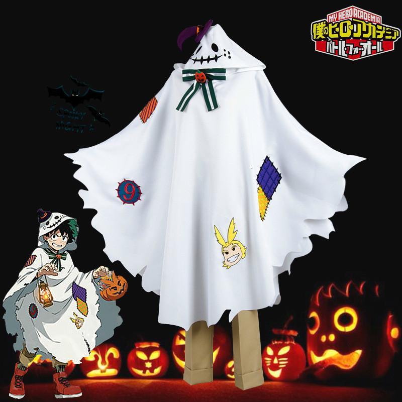 Anime Disfraces Boku no mi héroe Academia Midoriya Izuku Deku Cosplay linda cabo del capote para Halloween Peluca de Navidad
