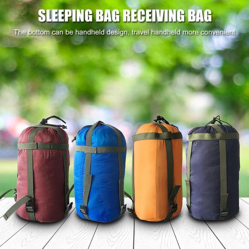 Camping de algodón para dormir casual bolso de hamaca bolsa al aire libre D2T7 Almacenamiento de compresión JJAV