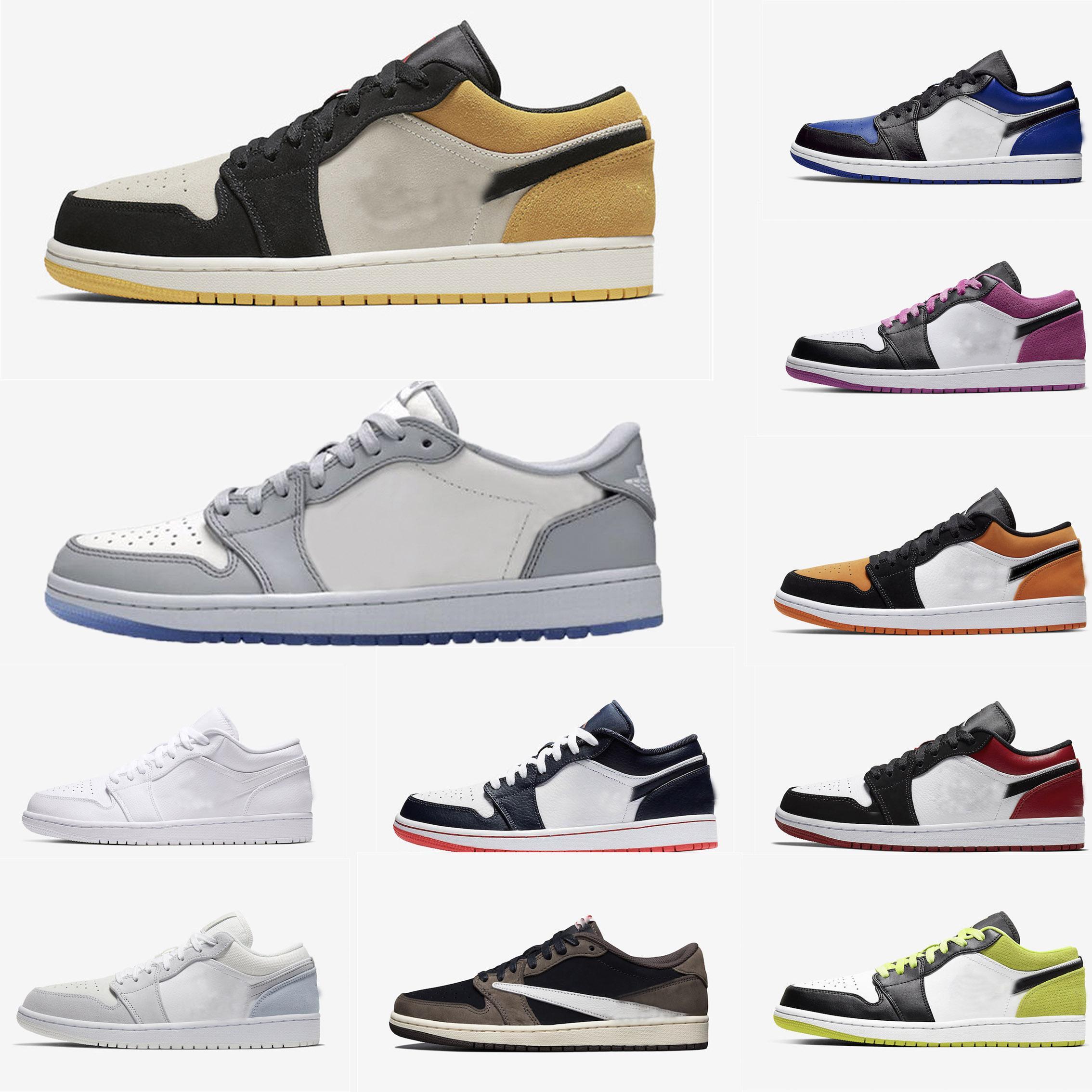 2020 عالية 1 جزء UNC الخوف توربو الأحذية الخضراء الاحذية OG منتصف الرجال أحذية رياضية رويال المحظورة bred bred المدربين الأبيض