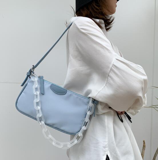 Ins Women Bag Lady ascellare Borse a tracolla in nylon piccole borse Due Tracolla