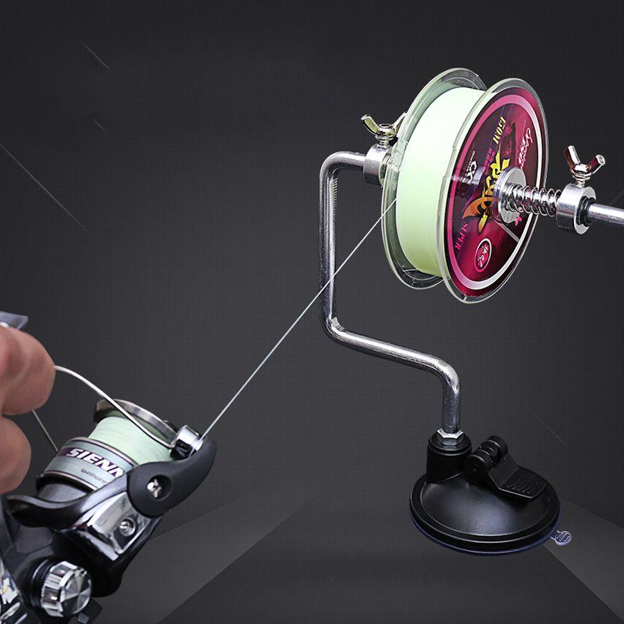 Portátil Pesca alumínio Linha Winder Reel Spool Spooler Sistema Combater Ferramentas Ventosa Mar Carp Fishing Lines bobina Acessórios