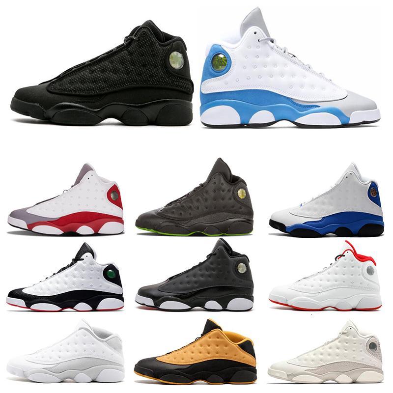 13 13s hombres Una mala jugada zapatillas de baloncesto Gato Negro Melo Clase de 2003 del dedo del pie gris criados deportes zapatillas de deporte NakeskinJordánzapato Retros