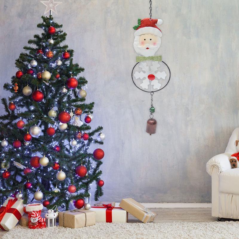 Weihnachtsbell-Dekorationen Eisen-Kunst-Wind Chime-Anhänger-hängender Ornament Bell-Anhänger für Garten-Yard