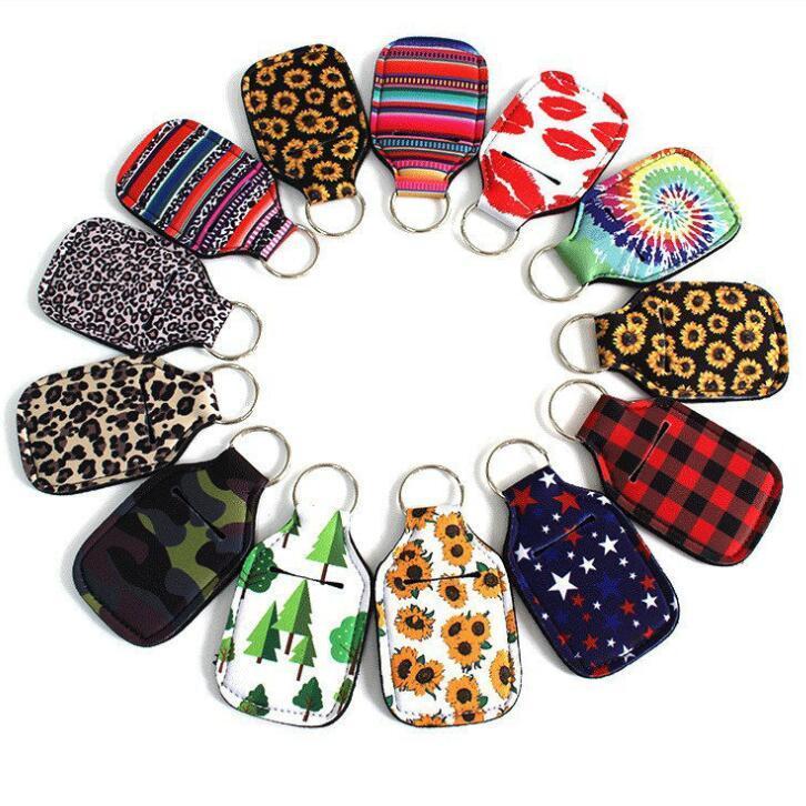 Bouteille Porte-Sac Désinfectant pour les mains en néoprène Porte-clés Sacs Porte-clés Bouteille Porte-savon pour les mains Accessoires de mode EWF725