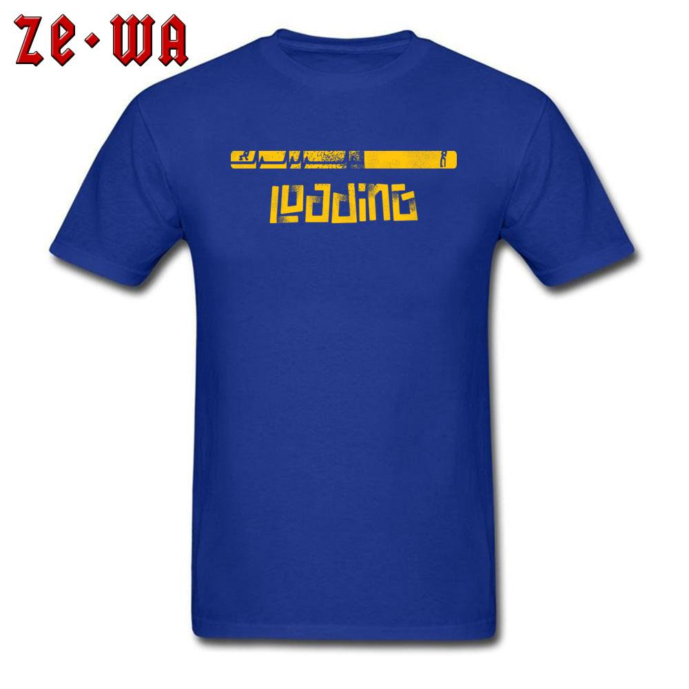 Comics T Shirts Mann-T-Shirt Leben Loading Entwurf Tshirt Lustige Sommer-Herbst-Stück-Grafik 100% Baumwollgewebe Kleidung