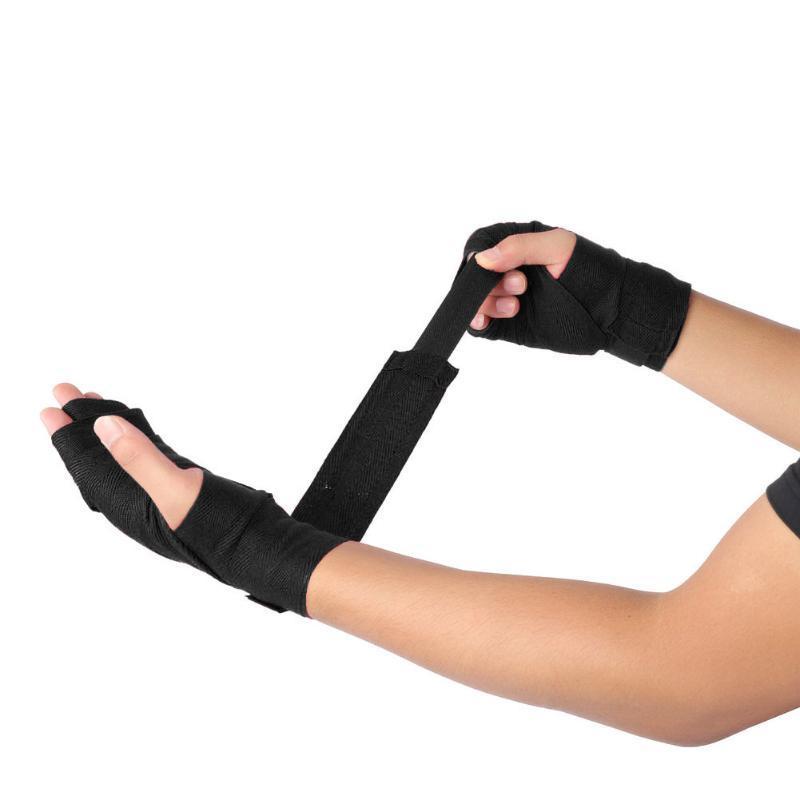 1 Pair 2.5M 4m Boxing Hand Wraps Kick Boxing Handwraps for Training 5cm Width Bandages Muay Thai Elastic Hand Wrap Bandages